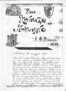 manoscritto di Pietro Toresani